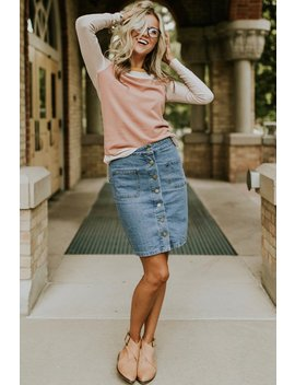 Renee Denim Skirt by Roolee