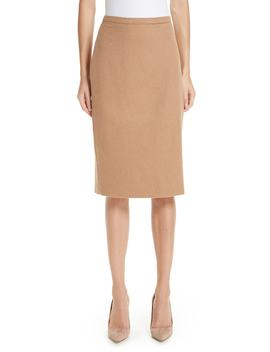 Oliveto Camel Hair Skirt by Max Mara