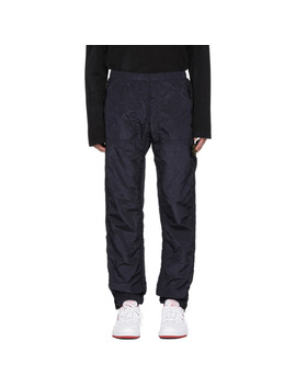 Navy Logo Badge Track Pants by Stone Island
