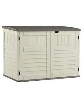 Stow Away Horizontal Shed   Soft Taupe   Suncast by Shop All Suncast