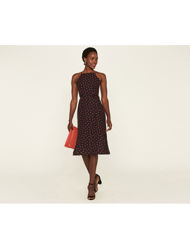 Short Lip Print Midi Dress by Oasis