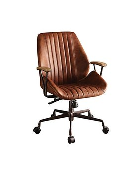 Acme Furniture Acme 92413 Hamilton Top Grain Leather Office Chair In Cocoa Leather by Acme Furniture