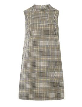 Ochre Check Sleeveless Tunic by Dorothy Perkins
