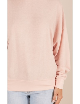 Alone With Me Sweatshirt In Blush by Showpo Fashion