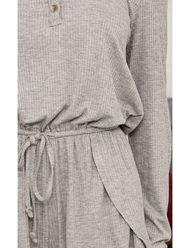 Set For Anything Romper In Grey Marle by Showpo Fashion