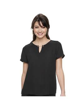 Women's Apt. 9® Keyhole Georgette Top by Apt. 9