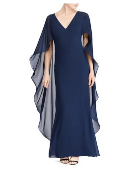 Ruffled Cape Gown   100 Percents Exclusive by Lauren Ralph Lauren