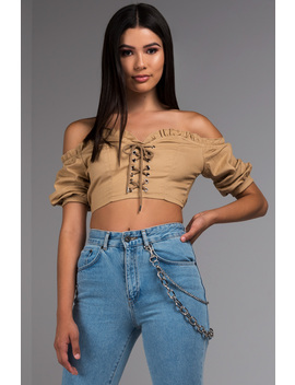 Step On Up Off Shoulder Top by Akira