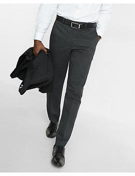 Relaxed Stretch Cotton Blend Heathered Dress Pant by Express