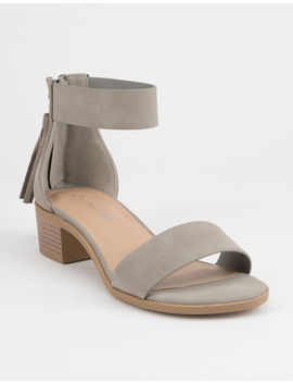 City Classified Block Grey Womens Heeled Sandals by City Classified
