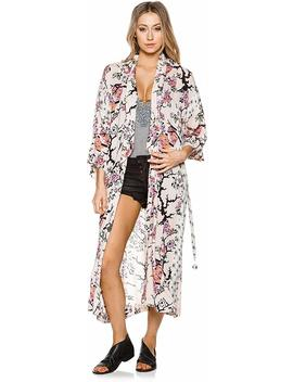 New Free People Women's Gigi Robe Rayon Pink by Free People
