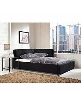 Tufted Reversible Sofa Lounge Daybed Couch Full Size Day Bed Corner Black By D&H by Unknown