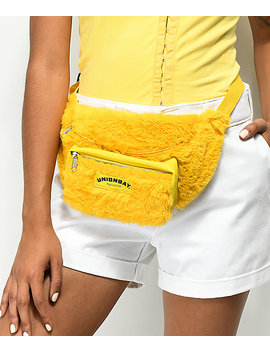 Union Bay Yellow Fur Fanny Pack by Unionbay