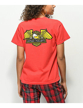 Loser Machine Alleyway Cruiser Red T Shirt by Loser Machine