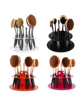 New 10pcs Toothbrush Oval Make Up Brushes Set Stand Dryer Organizer Holder Shelf by Ebay Seller