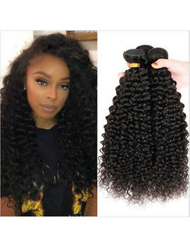 3 Bundles 100 Percents Peruvian Virgin Kinky Curly Hair Human Hair Extensions Weave 50 G by Ebay Seller