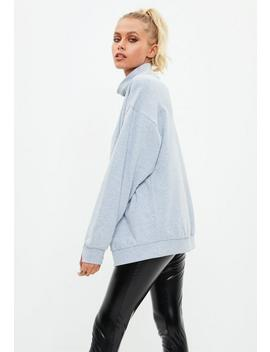 Active Grey High Neck Thumb Hole Sweat by Missguided