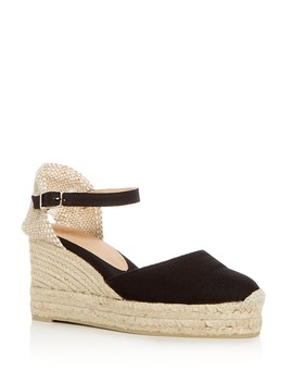 Women's Carol Ankle Strap Platform Wedge Espadrilles by Castañer
