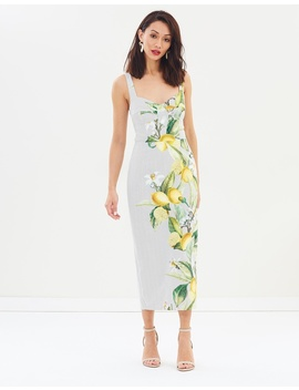 Citrus Brassiere Midi Dress by Pasduchas