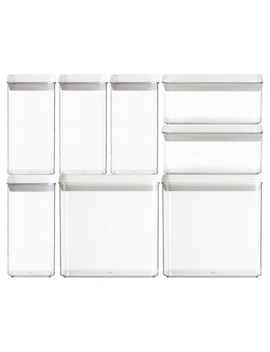 Felli® Flip Tite Square And Rectangle Acrylic 8pc Canister Set by Shop All Felli