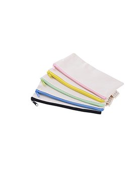 Blank Canvas Pen Pencil Case Stationery Pouch Coin Bag Cosmetic Bags, Set Of 5 by Sanc Office