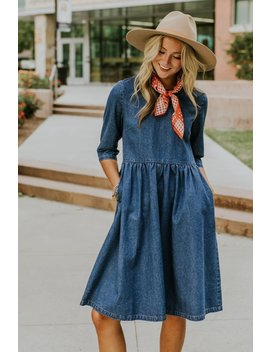 Raleigh Denim Dress by Roolee