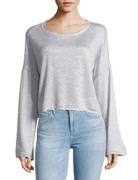 Bell Sleeve Heathered Top by Project Social T