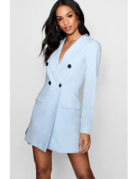 Contrast Button Pocket Detail Blazer Dress by Boohoo