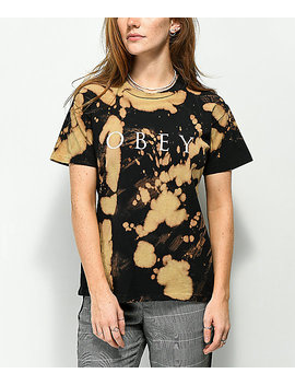 Obey Novel 2 Box Bleached Black T Shirt by Obey