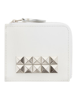 White Leather Studded Wallet by Comme Des GarÇons Wallets