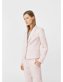 Structured Linen Jacket by Mango