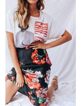 The Italian Job Midi Skirt // Floral by Vergegirl
