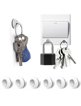 Magnetic Key Holder, Tescat 6 Packs Key Racks Organizer   Wall Mounted Decoration Without Drilling by Tescat