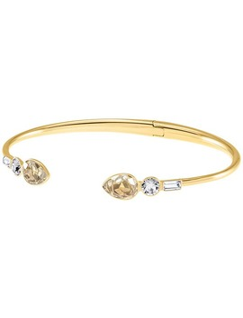 Mix And Match Bangle, Multi Colored, Gold Plating by Swarovski Crystal