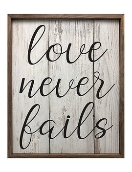 'love Never Fails' Framed Wall Art by Kendrick Home
