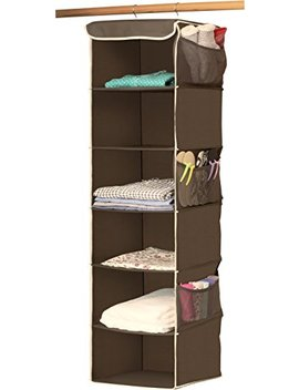 Simple Houseware 6 Shelves Hanging Closet Organizer, Bronze by Simple Houseware