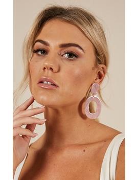 Do It Better Earrings In Pink Tortoiseshell by Showpo Fashion