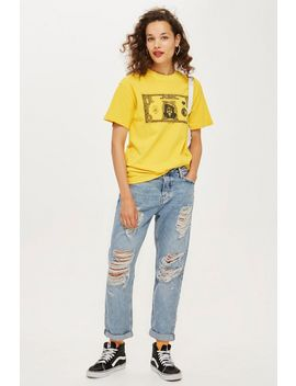 Bleach Super Rip Hayden Boyfriend Jeans by Topshop