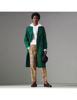 Vintage Check Cotton Trousers by Burberry