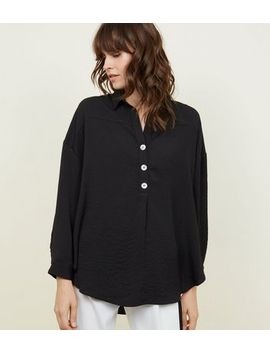Black Overhead Long Sleeve Shirt by New Look