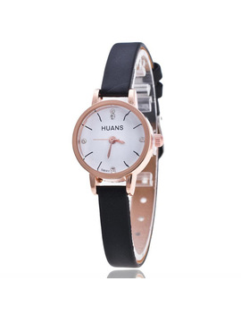 Huans 2018 Woman Watch Simple Design Alloy Band Quartz Watch Black White Crystal Elegant Ladies Women Watch Relogio Feminino Y25 by Huans