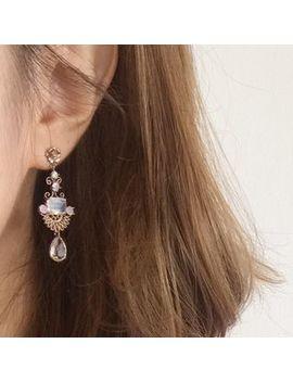Rhinestone Drop Earrings by Mimi&Didi