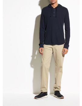 Waffle Hooded Henley by Vince