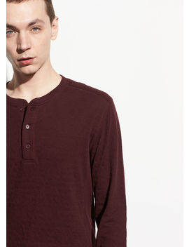 Double Knit Long Sleeve Henley by Vince