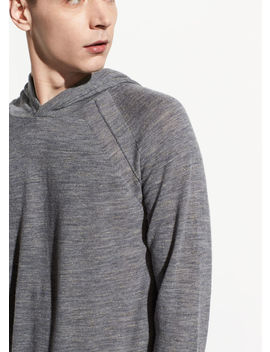 Seamed Pullover Hoodie by Vince