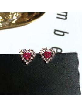Rhinestone Heart Earring by True Glam