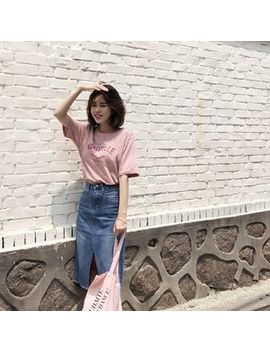 Lettering Relaxed Fit T Shirt by Mimi&Didi