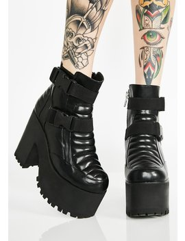 Switchin' Gears Moto Booties by Current Mood
