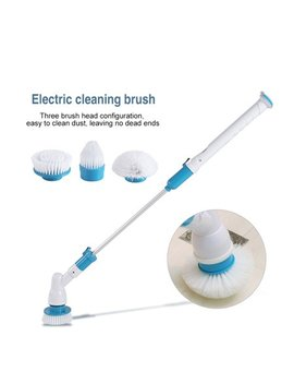 3 Heads Electric Spin Scrubber Cleaning Brush Electric Bathroom Brush Floor Tiles Household Clean Tool For Bathroom, Floor, Wall And Kitchen by Qiilu