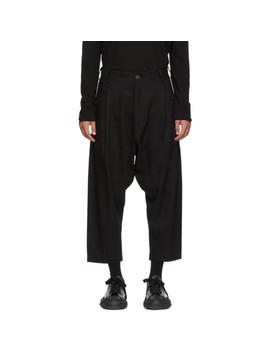Pantalon En Lin Et Laine Noir by Isabel Benenato